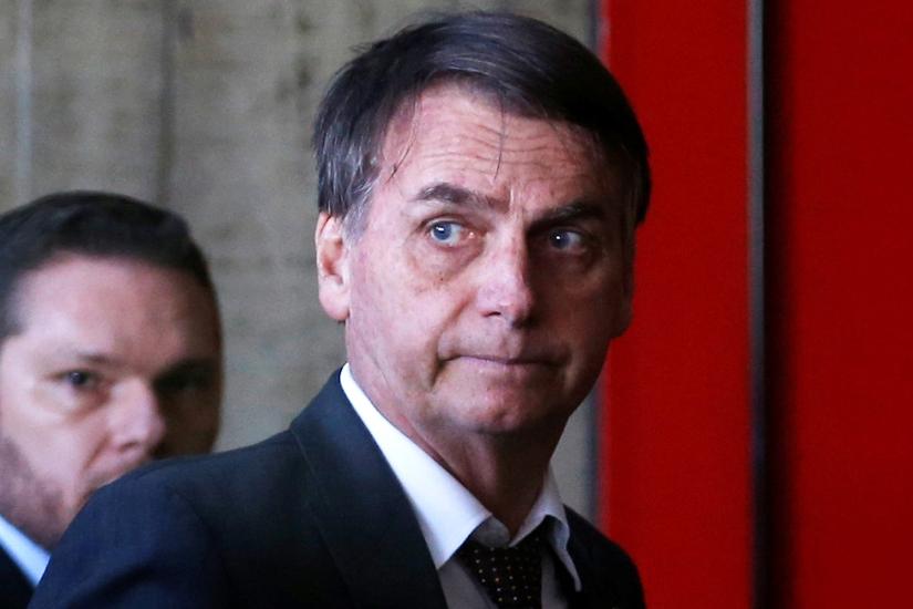 Brazil's President-elect Jair Bolsonaro arrives to meets authorities in Brasilia